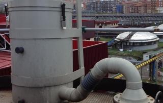 Ejemplo de desodorización pasiva en venteo de un silo de fangos en EDAR